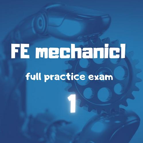 FE Mechanical full Practice Exam module 1
