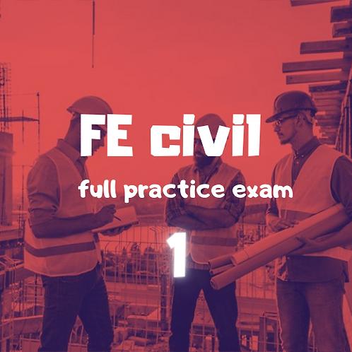 FE Civil  full Practice Exam module 1