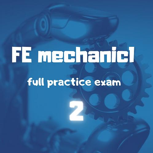 FE Mechanical full Practice Exam module 2