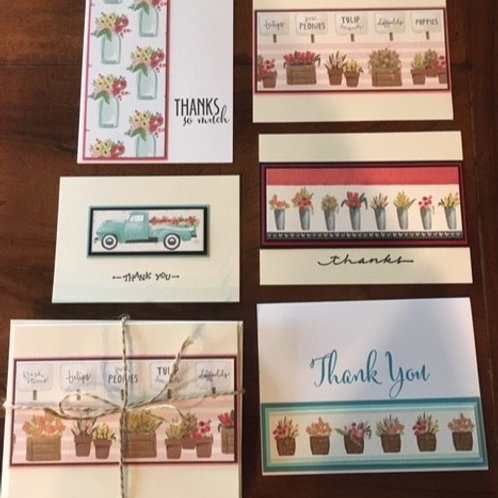 Flower Market Card Set - Packet of 5