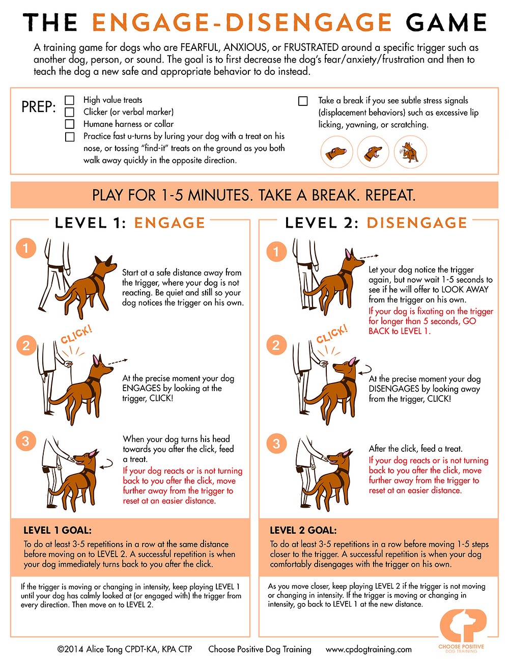 The Engage Disengage Game for Leash Reactivity Clicker Training