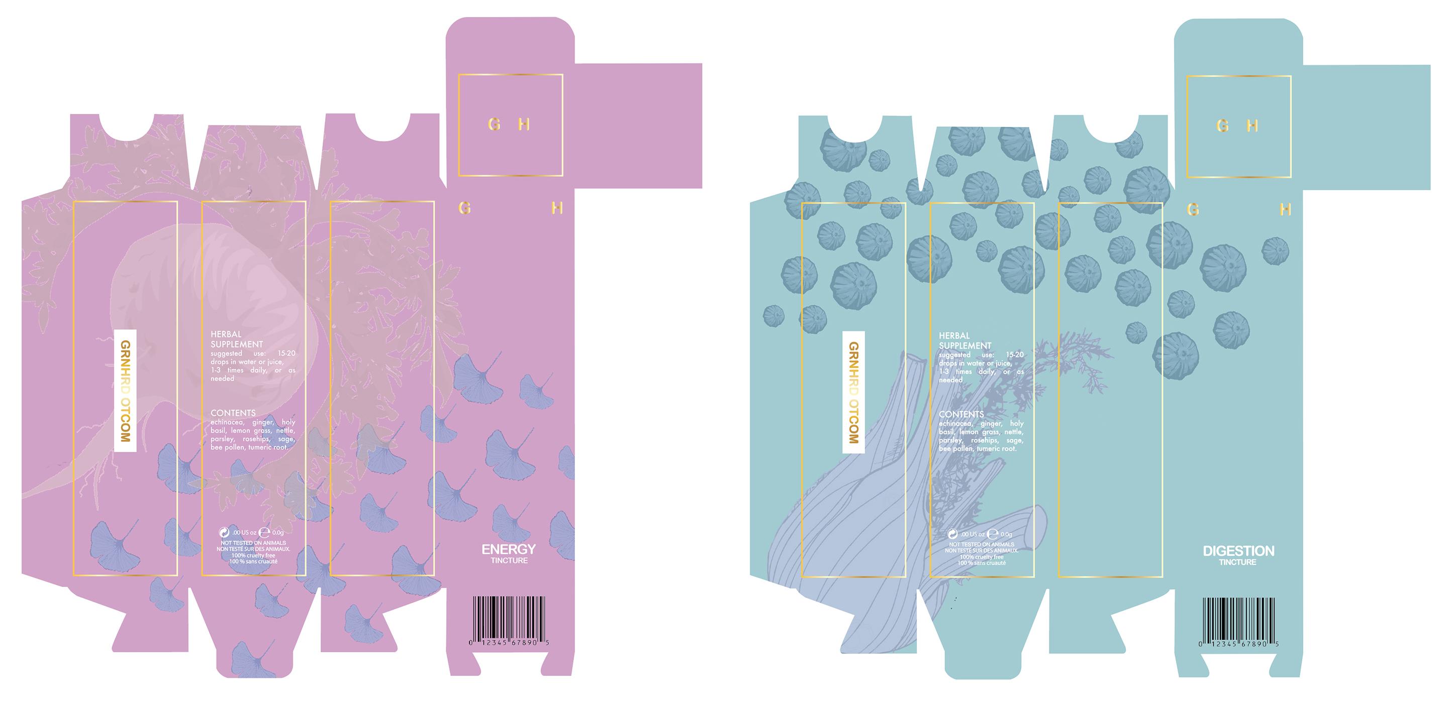 Tincture Packaging Design