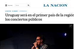 Nota La Nación (Arg) - Comienzo shows con música en vivo