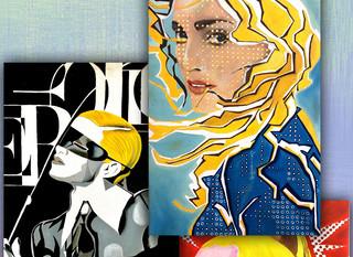 Pinturas de Madonna realizadas por el artista Yonh Calles