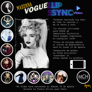 Vogue LipSync Chile (Happy Birthday Madonna)