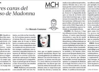"""Crítica de La Tercera: """"Las Tres Caras de Madonna"""""""