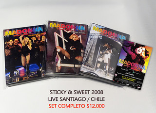 Pack Promocional DVD's Sticky & Sweet Tour en Chile 2008