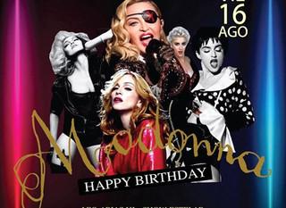 Madonna 61 Happy Birthday en Fausto Discotheque