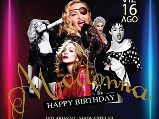 Madonna 61 Happy Birthday en Fausto Discotheque