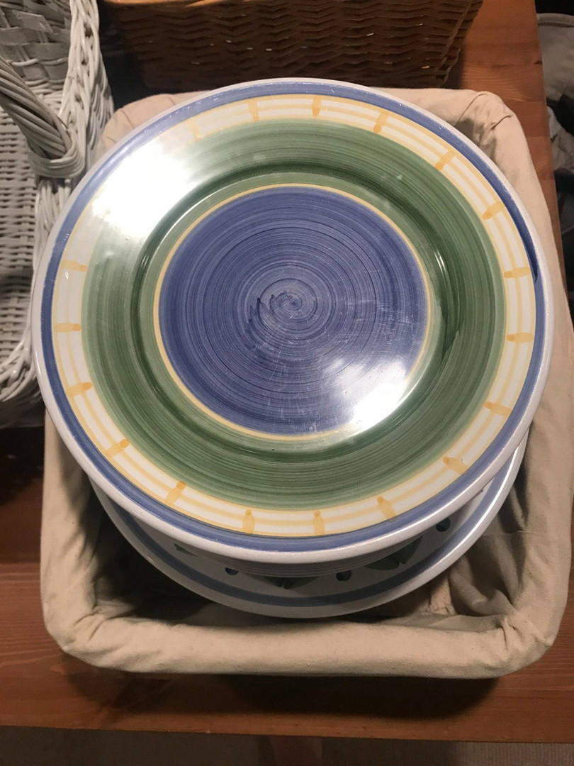 Painted plates donated to the Summit Free Market