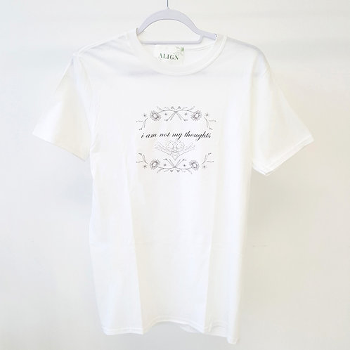 ALIGN The Mindfulness Collection - 'I am not my thoughts' Off-White T-shirt