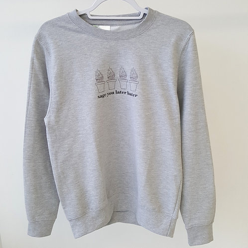 ALIGN The Mindfulness Collection - 'Sage you later hater' Grey Sweatshirt