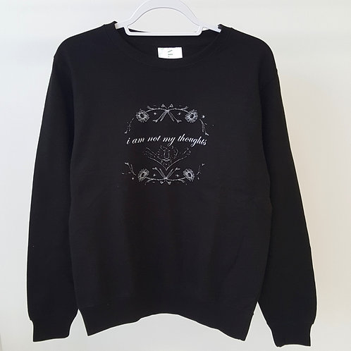 ALIGN The Mindfulness Collection - 'I am not my thoughts' Black Sweatshirt