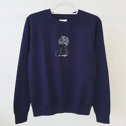ALIGN The Mindfulness Collection - 'Be Mindful' Navy Sweatshirt