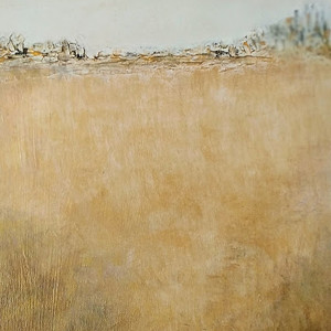 Golden Landscape - Acrylic & Mixed Media on Board 25x30cm