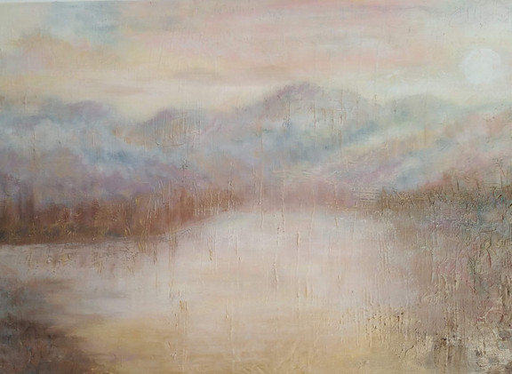 Misty Blue Mountains 60x90cm SOLD