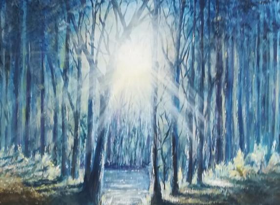 Sunshine Forest 80x100cm_