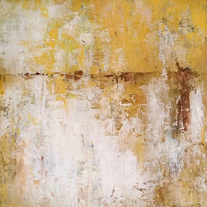 Gold and White Textured Landscape