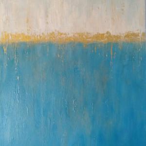 The Golden Sea - Acrylic & Mixed Media on Canvas 40x50 cm