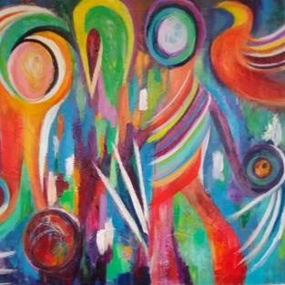 Canival - Acrylic on Canvas 100x135cm