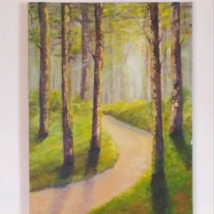 In the Woods Acrylic on Canvas 30x40cm