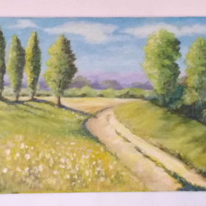 In the Countryside Acrylic on Canvas 46x38cm