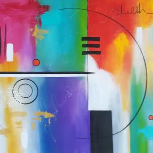 Abstract Painting - Break Through Acrylic on Canvas 100x80cm 100x80cm