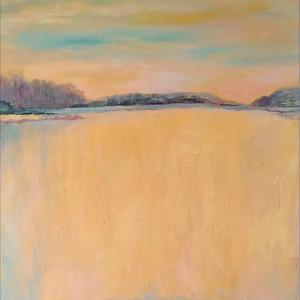 Dusk Reflections - Acrylic on Canvas 46x38 cm