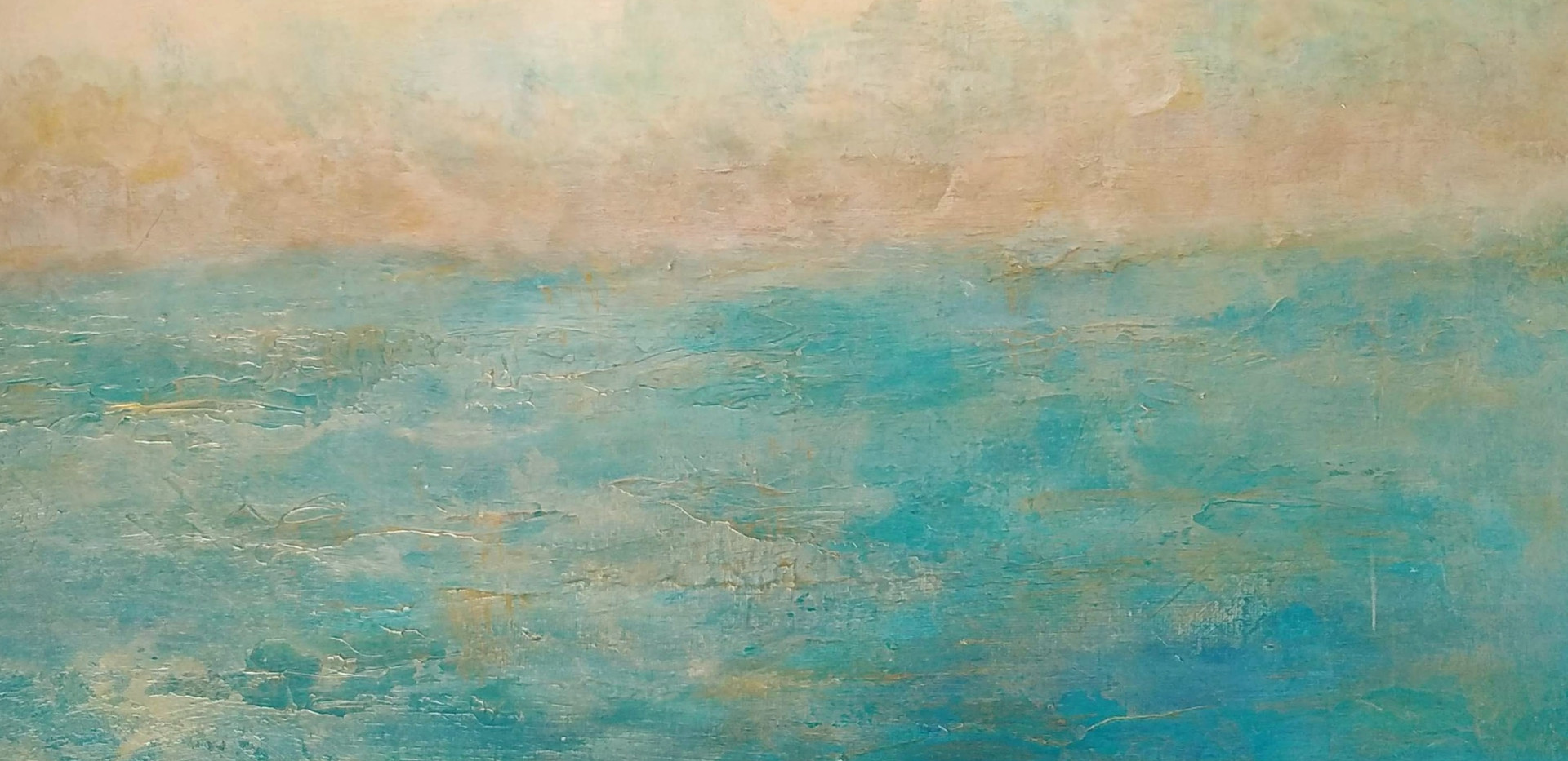 Abstract Seascape Acrylic on Canvas 40x50cm SOLD