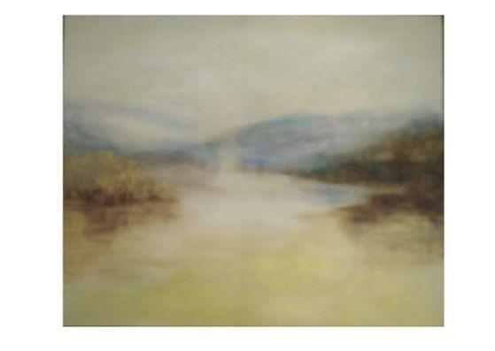 Golden lake.50x60cm SOLD