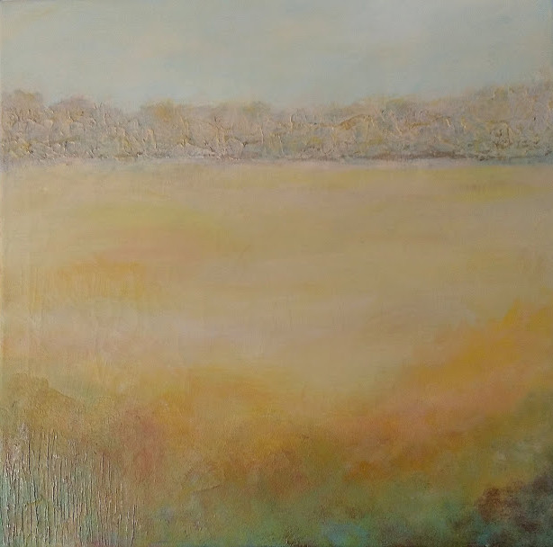 Field of Gold - Acrylic & Mixed Media on Canvas 42x33cm