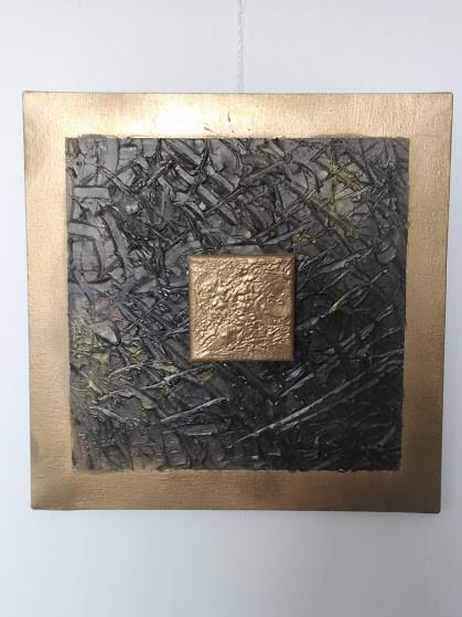 Gold on Bronze 40x40cm