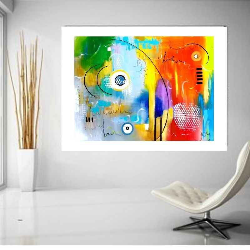 Colourful Abstract Wall Art