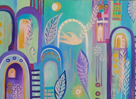 Peace in the World Acrylic on Canvas 70x50cm