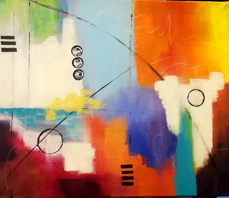Conversation 46x55cm. Acrylic on Canvas