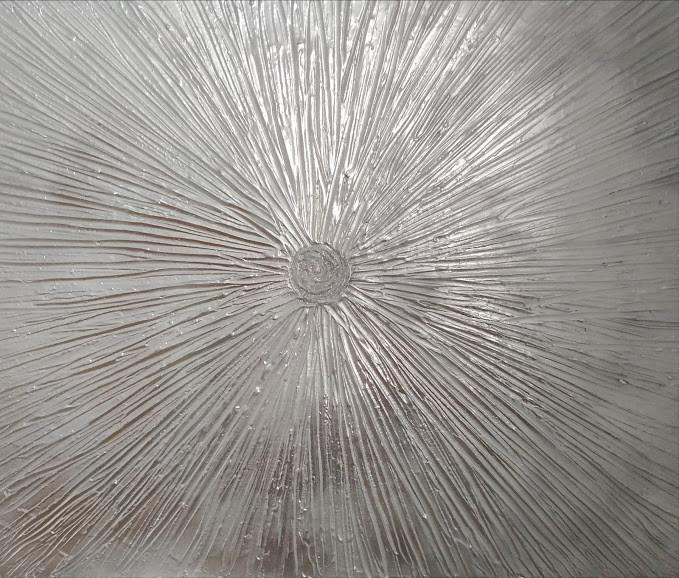 Silver Star Burst 50x50cm