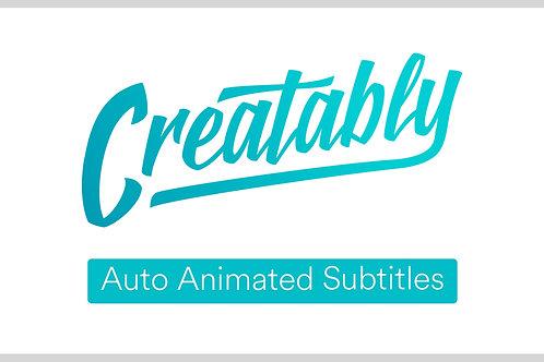 Auto Animated Subtitles