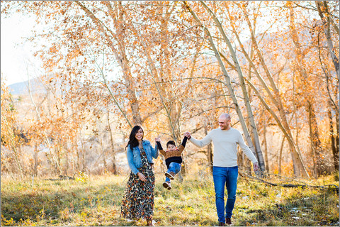 The S Family | Colorado Fall Colors | Fall Family Photoshoot in the Aspen Trees | Boulder, CO