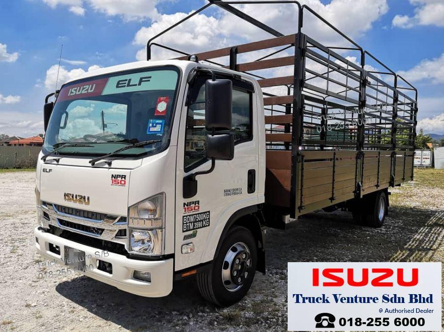 Isuzu Lorry NPR75UKH, Wooden Cargo 21ft