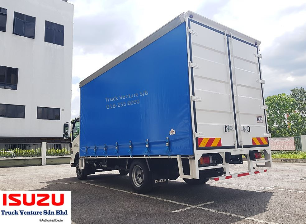 Blue Curtain Sider Lorry