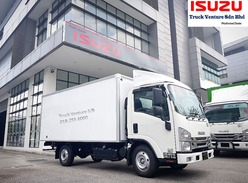 14 Kaki White Color Fiber Box Isuzu Lorry