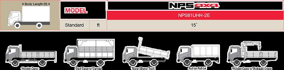 Isuzu NPS 4x4 Body Applicaton / Cargo