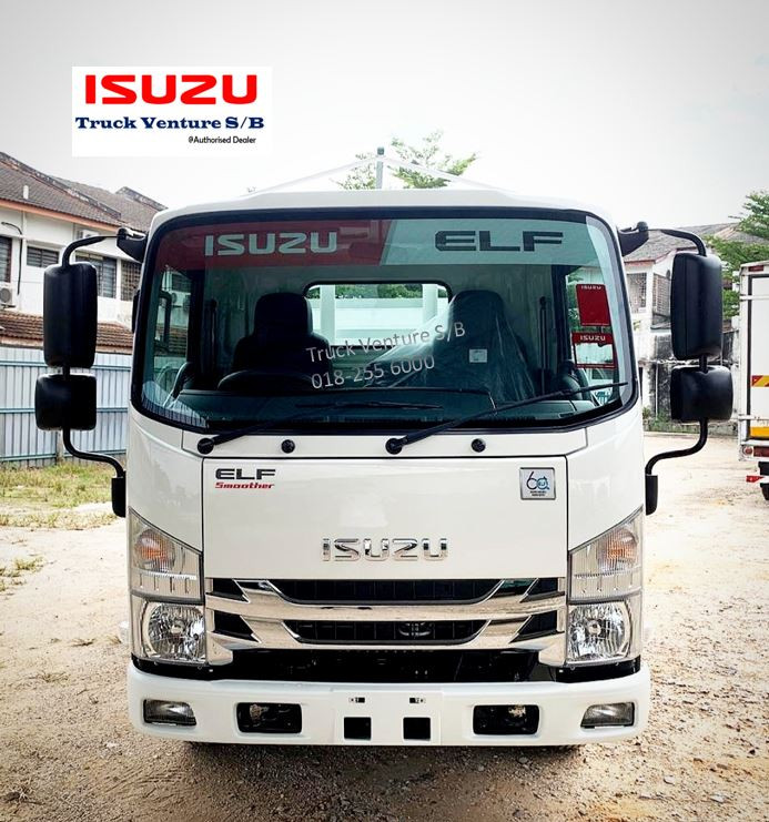 New Lorry for Sale, parking at Isuzu Showroom
