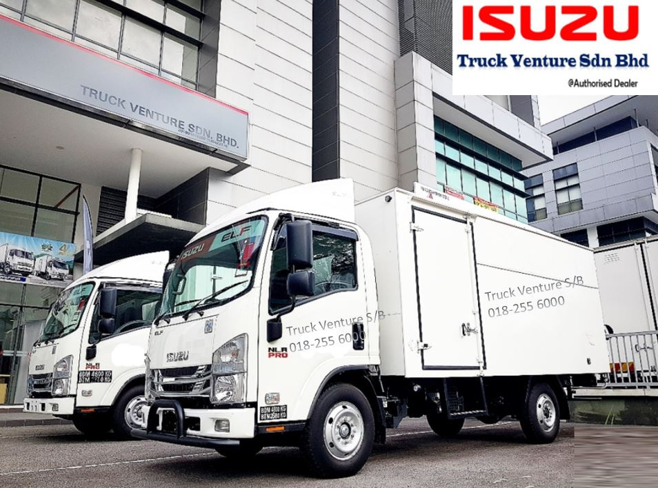 New lorry displayed at Isuzu dealer showroom