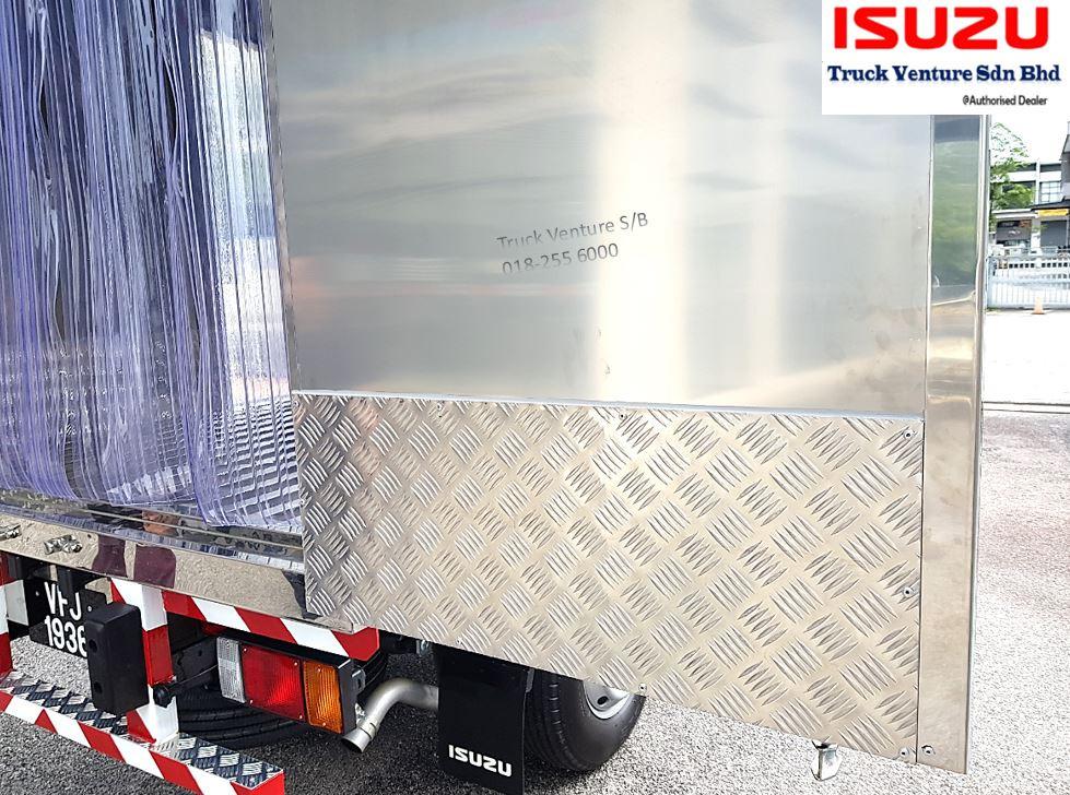 Aluminium Chequer Plate Side Wall
