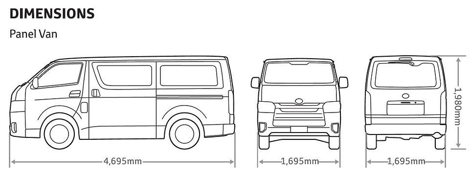 Toyota Hiace Panel Van Dimesion.JPG