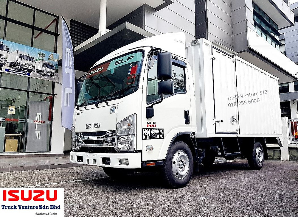 New Lorry Isuzu Brand - Display at Dealer Showroom