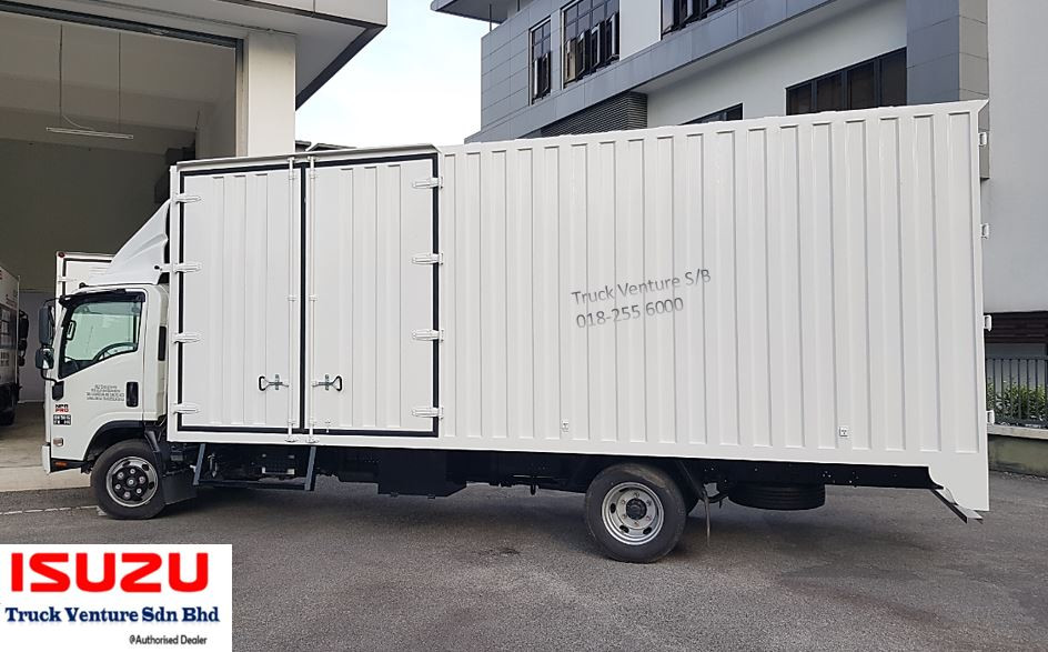 Big White Container Box Lorry