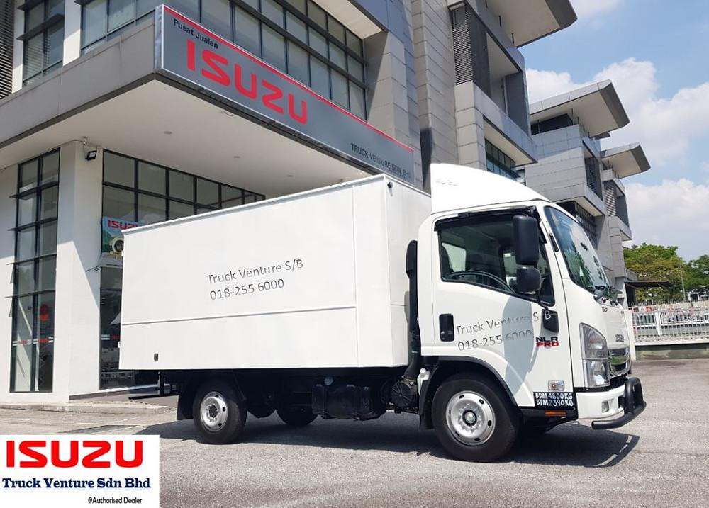 Isuzu Bonded White Aluminium Box Lorry