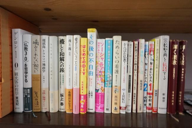 お寺に本棚をつくりました